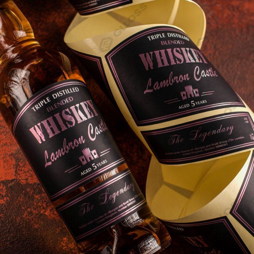 Этикетки на виски Lambron Castle