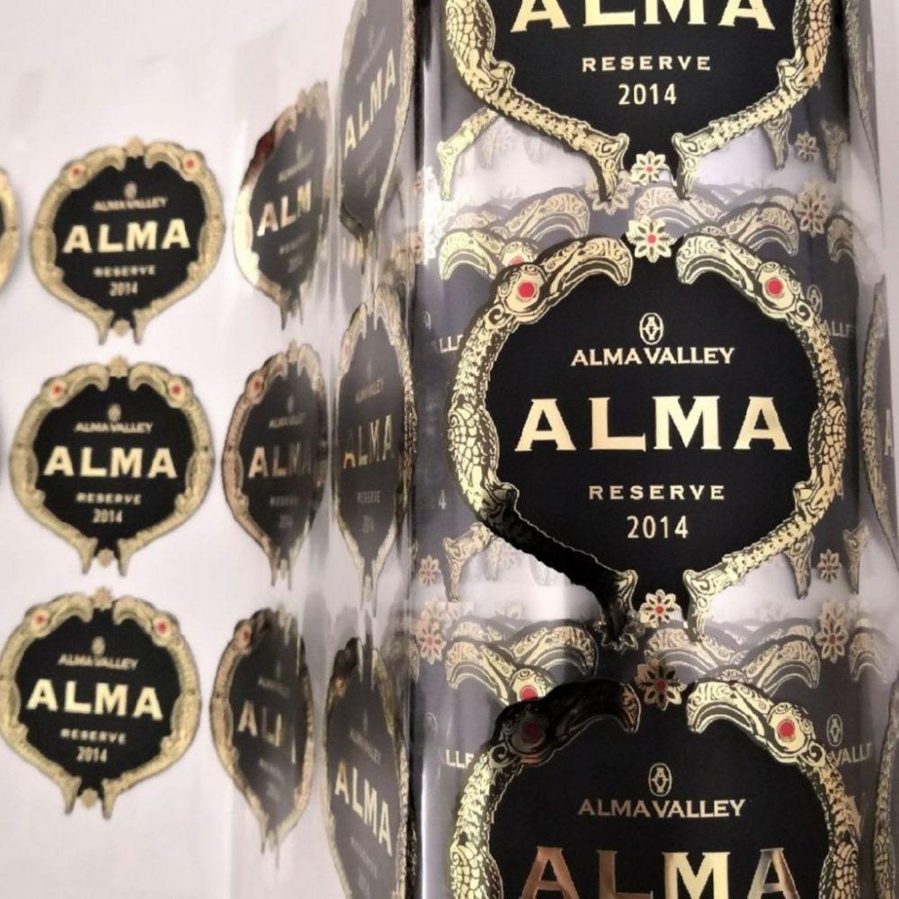 Винные этикетки Alma Valley Reserve