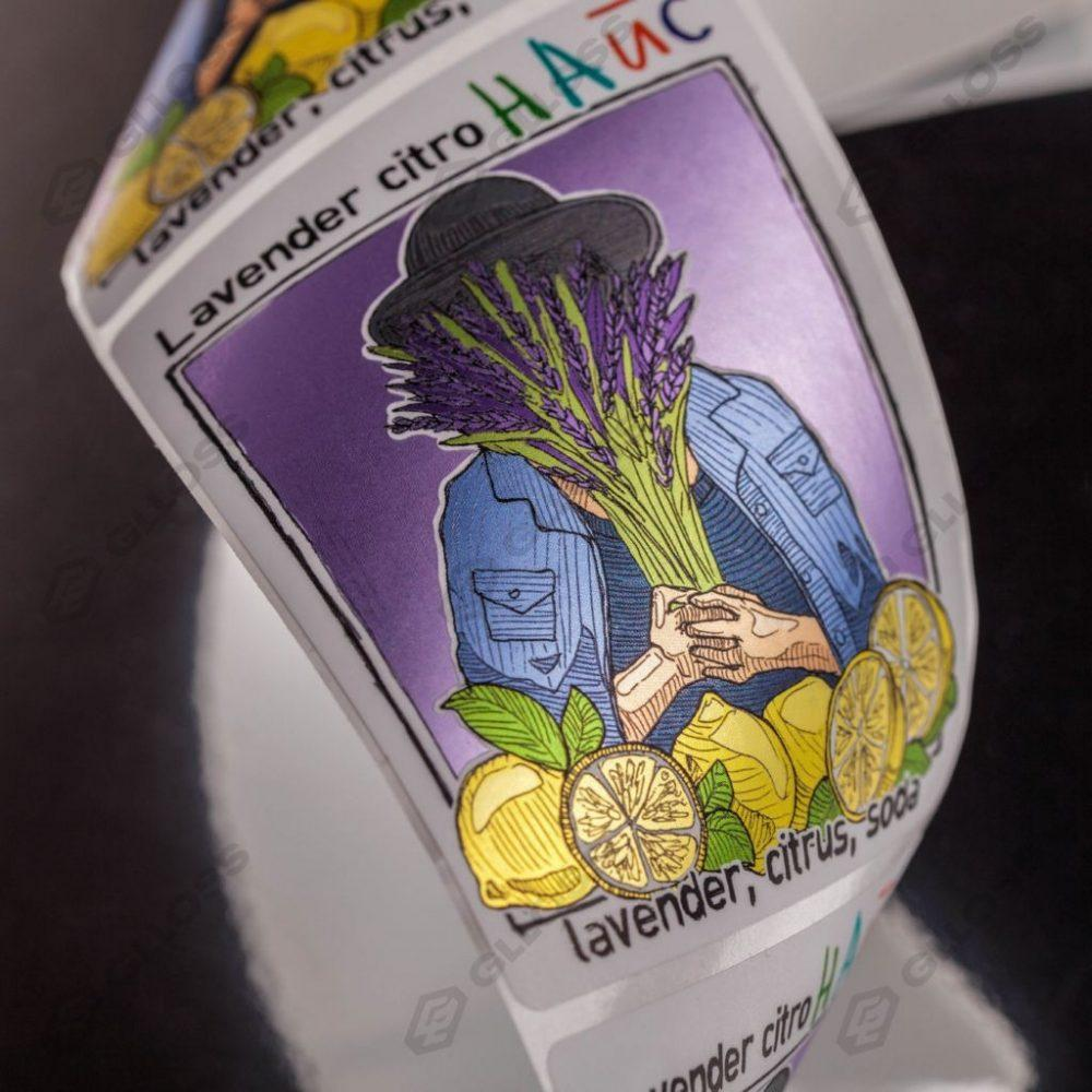 Самоклеящиеся этикетки на напиток «НАЙС»