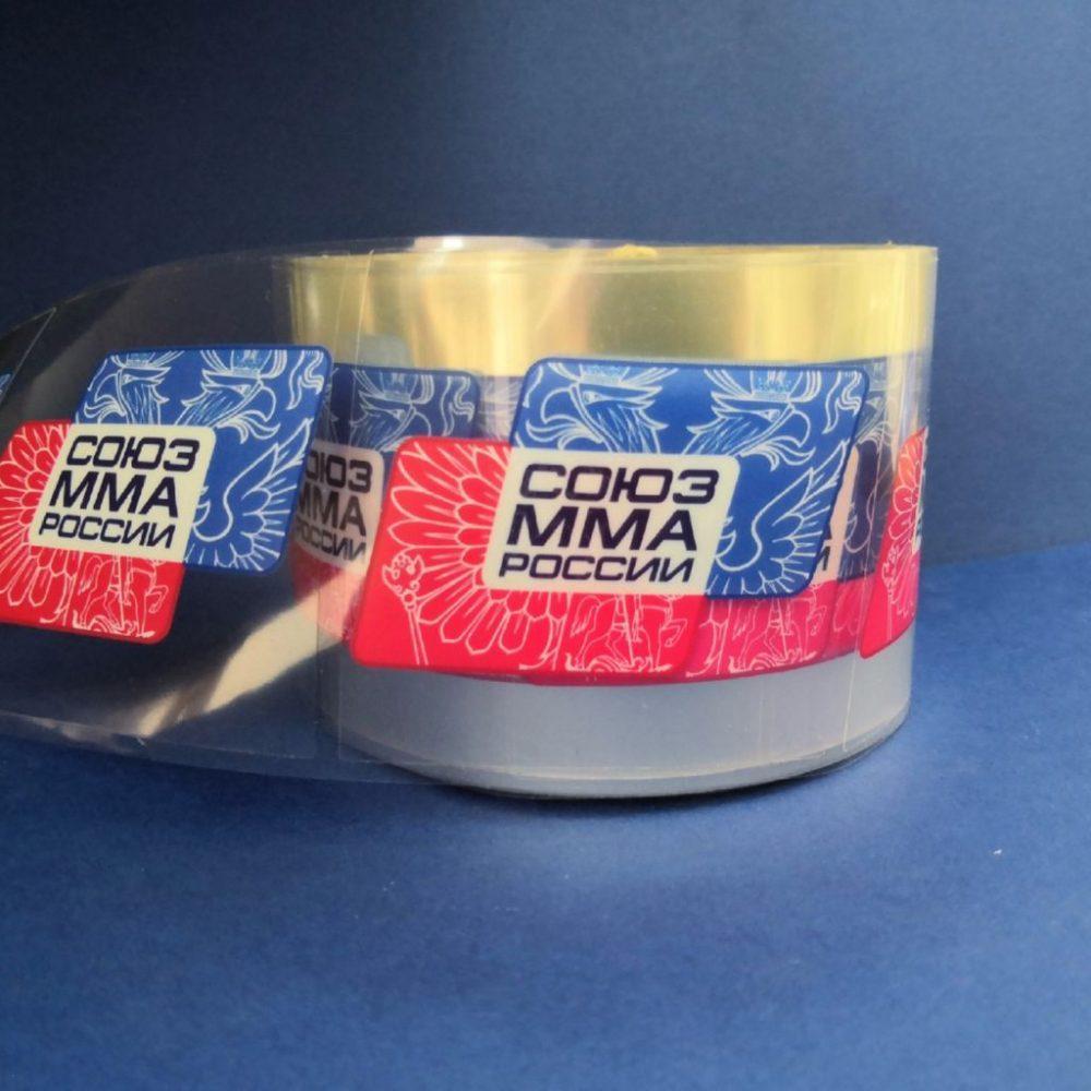 Самоклеящиеся прозрачные этикетки на бутылки с питьевой водой для Союза ММА России