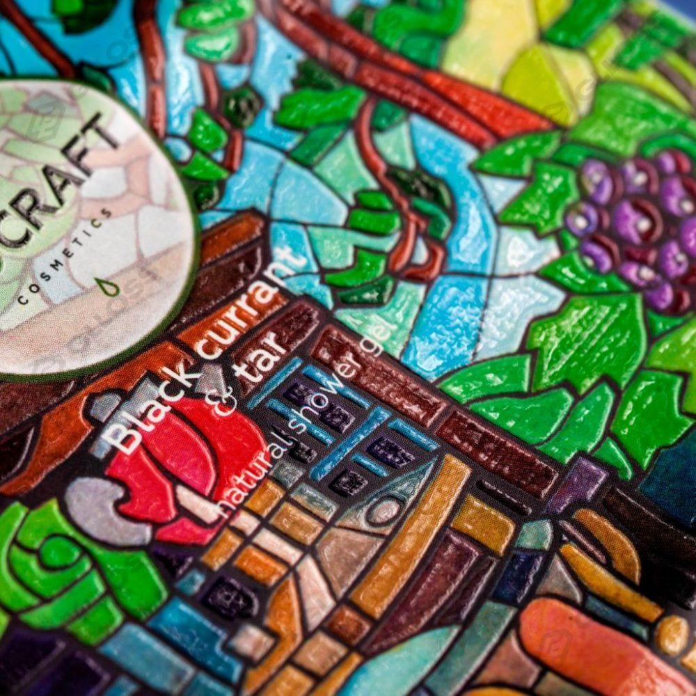 Цветопроба этикеток для бренда ECOCRAFT cosmetics