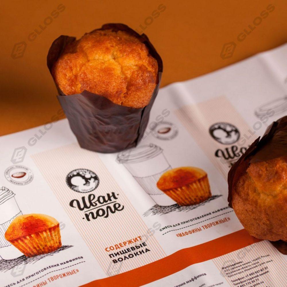 Самоклеящиеся этикетки на крафтовые бумажные пакеты с сухими смесями «Иван-поле»