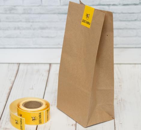 Этикетки прямоугольные с надписью  ДОСТАВКА / Самоклеящиеся этикетки 30*80 мм,  рулон 100 шт.